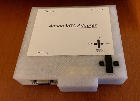 A GBS-8200-based upscaler advertised for the Amiga