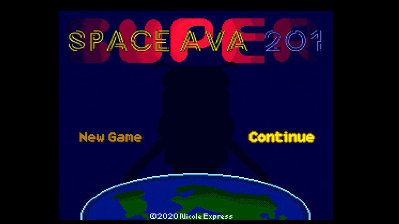 Space Ava 201 title screen, GBS Control