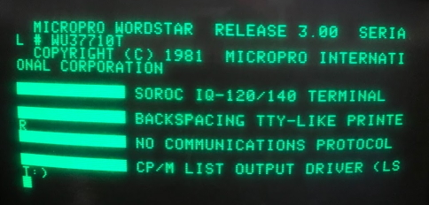 WordStar for the Apple II, but hampered by a 40-column screen