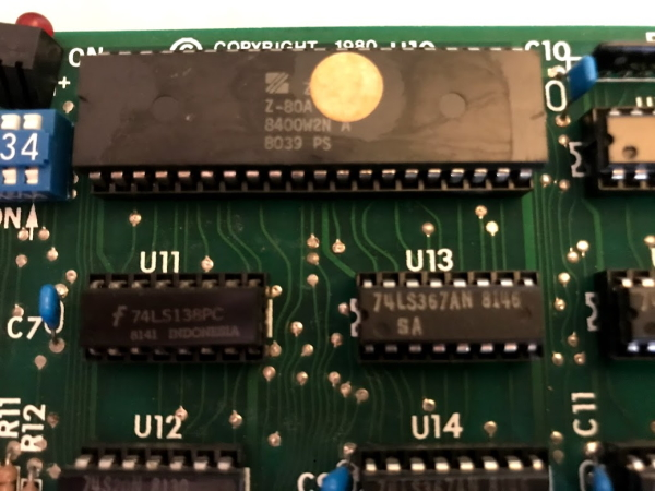 The Z80 CPU on the Apple softcard