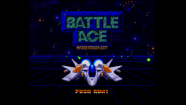 The title screen of Battle Ace