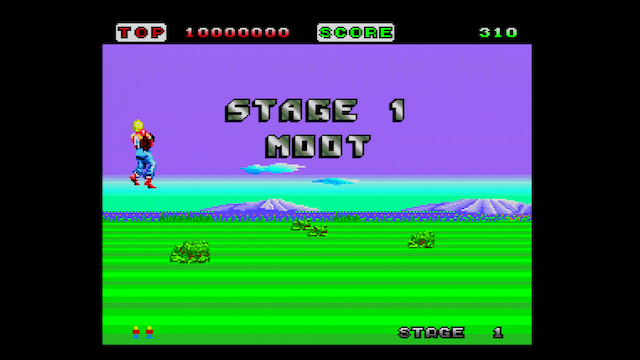 Space Harrier for the PC Engine