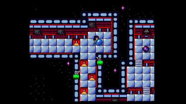 An in-game screenshot of Space Ava 201, showing Ava on a space station