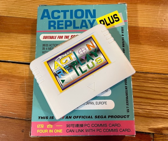 Action replay 4-in-1 showing the cartridge