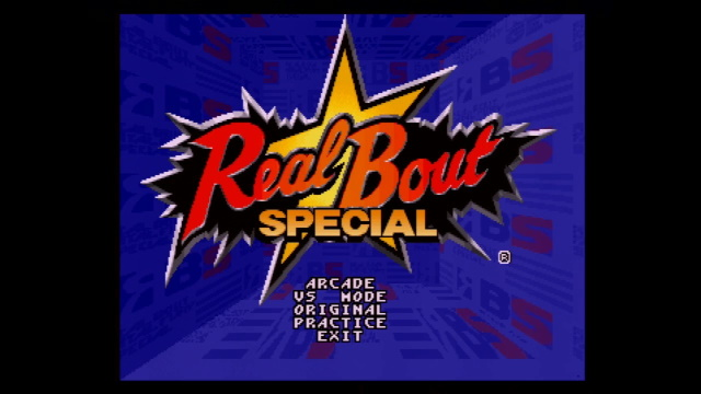 Real Bout Special title screen