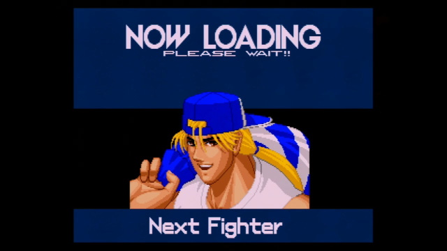 Real Bout Special loading screen, with a blue Terry Bogard