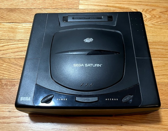A Sega Saturn, but without my cat this time